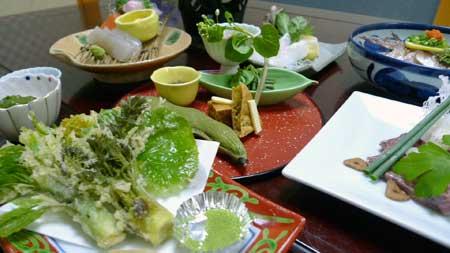 草津舘のお料理の一例